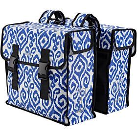 Basil Mara XL Gepäckträger Doppel-Tasche 35l indigo ikat